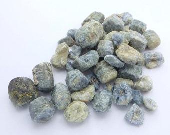 Sapphire Blue. Rough Crystals. Natural. 42 pc. 72 grams 6-16mm (SR238)