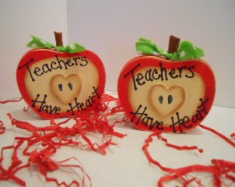 Teacher Gift Red Apple Teachers Have Heart Apple, Made to Order