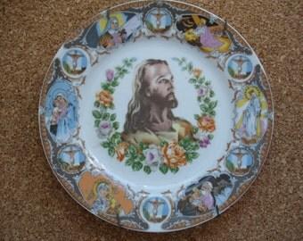 Awesome Vintage Souvenir Plate - Jesus
