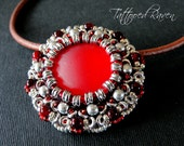 Cherry Red Luna Soft and O Bead Pendant