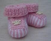 Hand knit baby booties - Surrrender-the-Booties