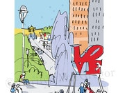 Philadelphia Love Park fine art print 2 sizes
