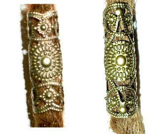 SALE 2 filigree dread beads