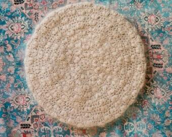 CROCHET PATTERN instant download - Lovanilla Beret - beige angora powder pink hat cute tutorial PDF