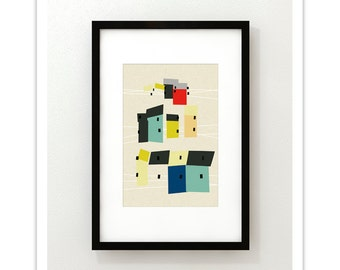 HOME no.10 - Giclee Print - Mid Century Contemporary Modern Abstract Modernist Art