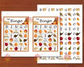 Fall Bingo Game Cards - Printables