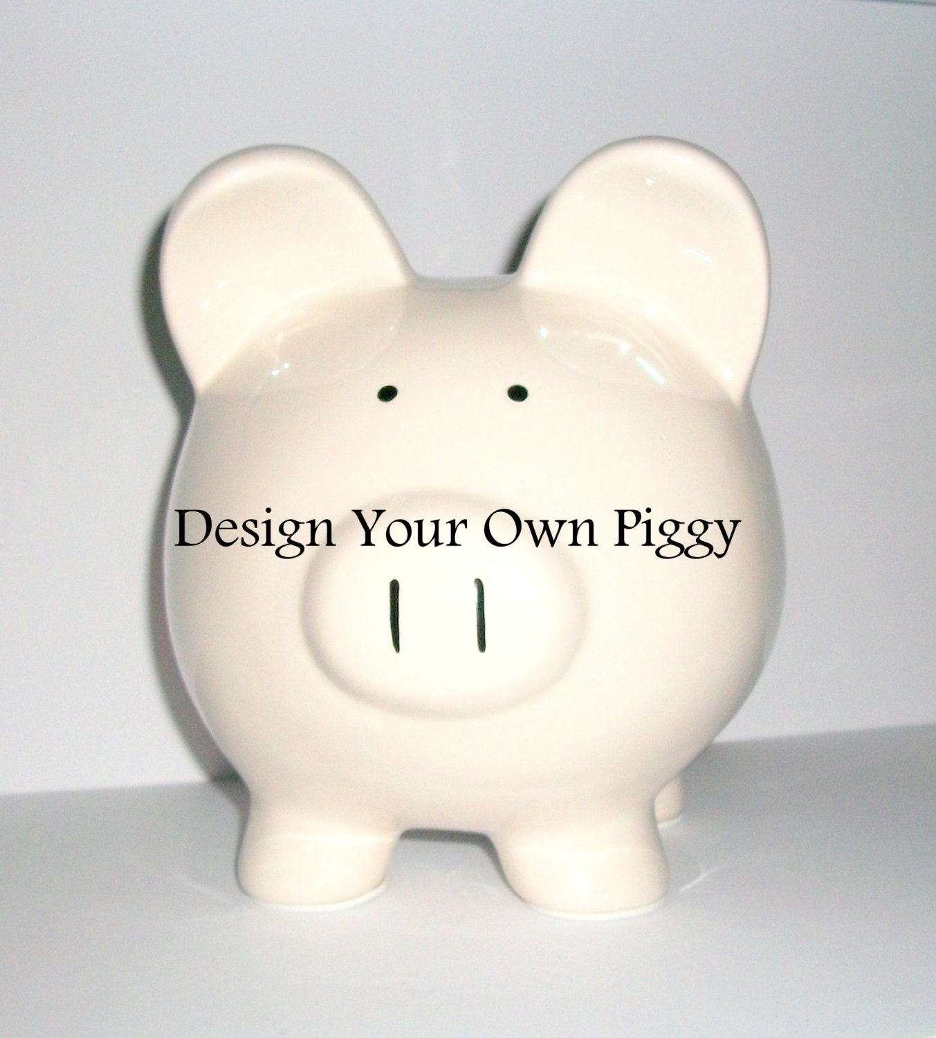 piggy bank jumbo design your own vacation fund weddig fund