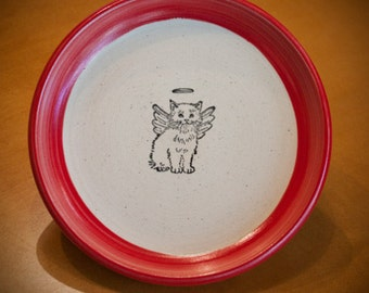 Angel Kitty Curved Plate (Small)