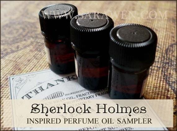 SHERLOCK HOLMES Perfume Samples / Inspired by Sherlock Holmes / victorian perfume / Vegan perfume oils