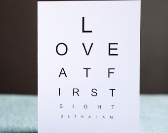 Love at First Sight - Blank greetings card
