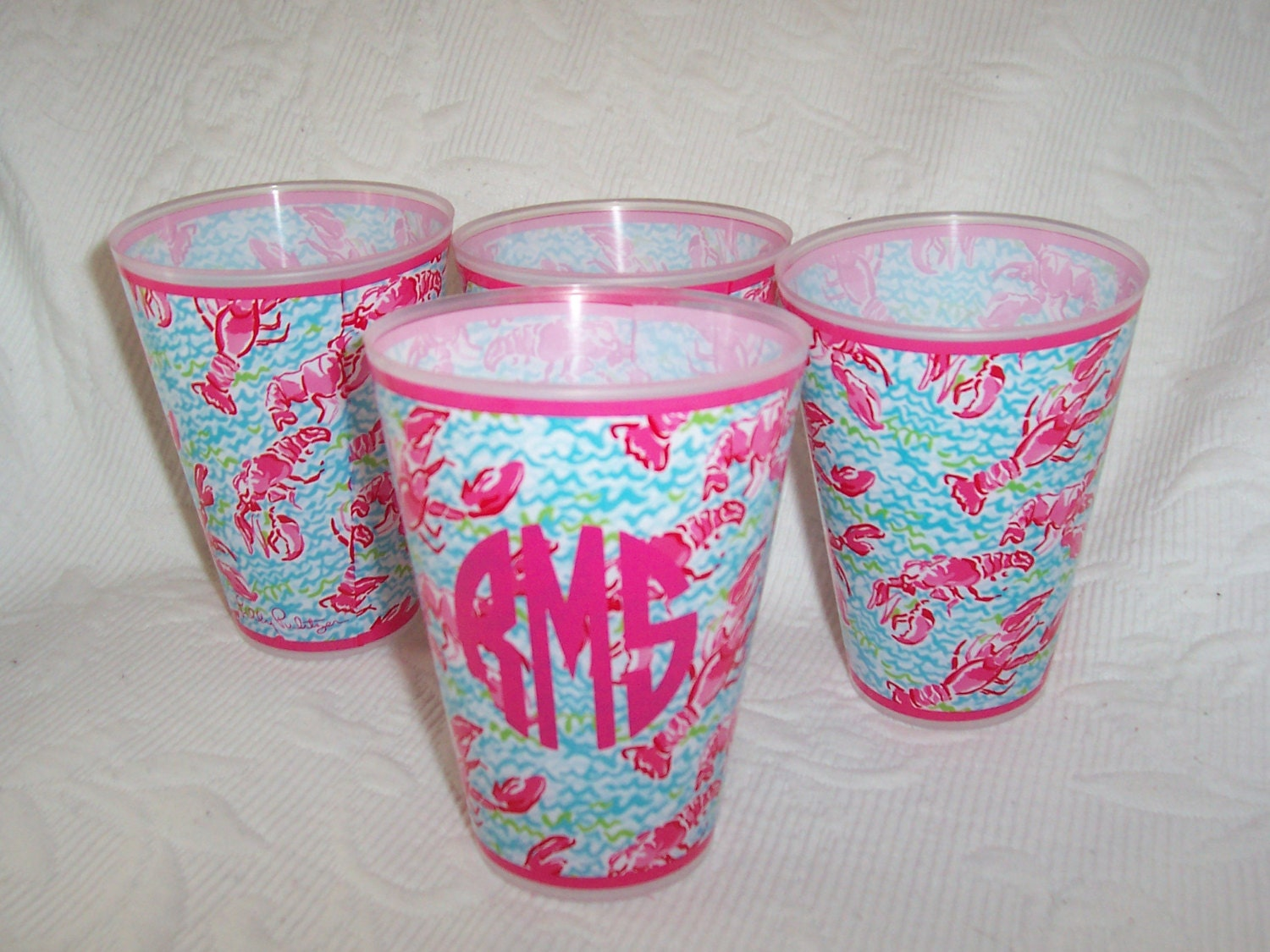 NEW Lilly Pulitzer LOBSTAH ROLL Monogrammed Tumbler by HomeLush