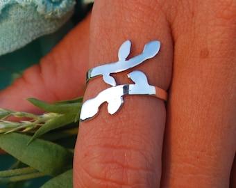 sterling silver vine ring