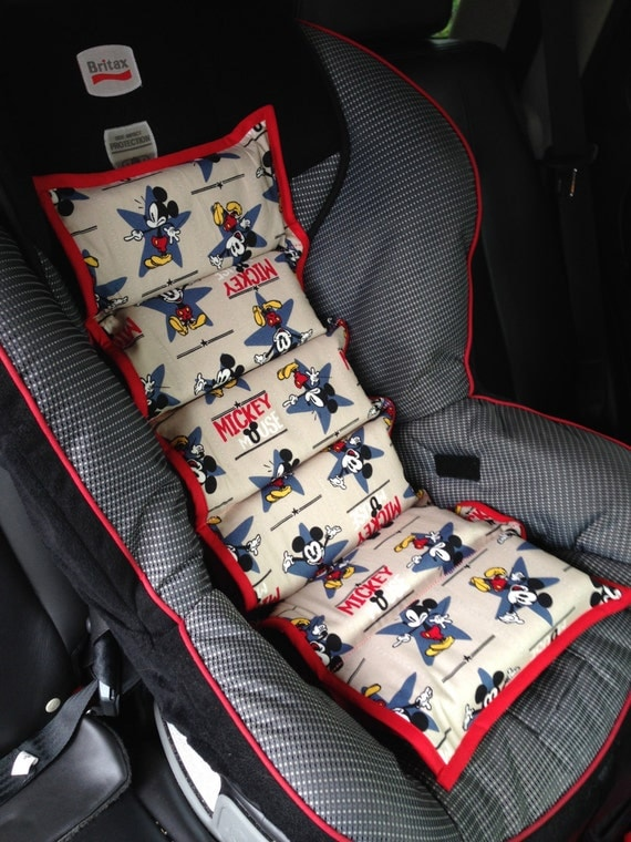 gender neutral mickey mouse car seat by simplysassysweet on etsy. Black Bedroom Furniture Sets. Home Design Ideas