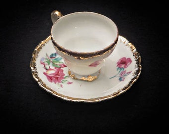 UCAGCO Demitasse Footed Cup and Saucer - Circa 1955-1960