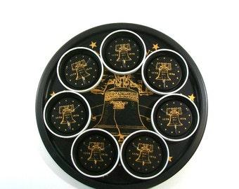 Bicentennial Metal Tray & Coasters