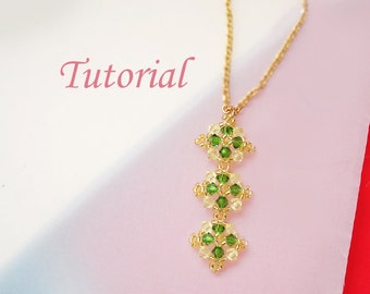 Beading Tutorial - Beaded Lattice Pendant