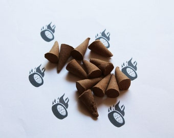 Burnt Rubber Scented Cone Incense - Incense Cones - Aromatherapy - Aroma - Essense - Home Decor - Gift for Adults