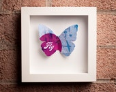 Fly: Framed Paper Butterfly with Airplanes
