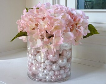 Chic Wedding Pink Amp Pearl Vase Filler Floral Centerpiece