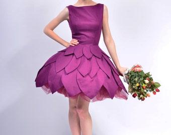SALE Gina 5 knee Dress ONLY RED, prom dress, bridal dress, flower dress