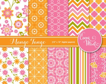 Mango Tango Digital Papers