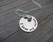 """Niece Necklace """"I love my niece"""" with an accent bead of your choice-gift for Niece"""