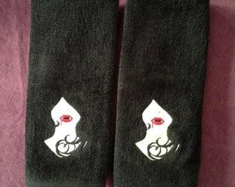 Gothic Vampiress Hand Towel