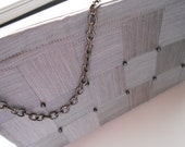 CLEARANCE! Grey Checkerboard Purse/Clutch-Clearance