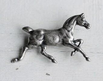 Horse Brooch ... Silver Vintage Pony