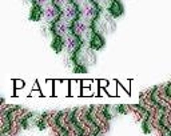 Barbed Wire Pattern Peyote Or Loom For Bracelet Or Hatband