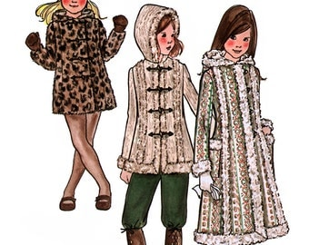 Butterick 6365 Children's and Girls Princess Coat Sewing Pattern - Uncut - Size 4