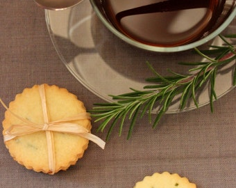 All Natural & Organic Rosemary Butter Cookies (1 Dozen)
