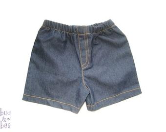 Jeans Shorts, Baby Boy Shorts, Baby Girl Shorts, Blue Denim Pants, Summer Shorts