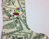 Roller Derby Embroidered Christmas Stocking