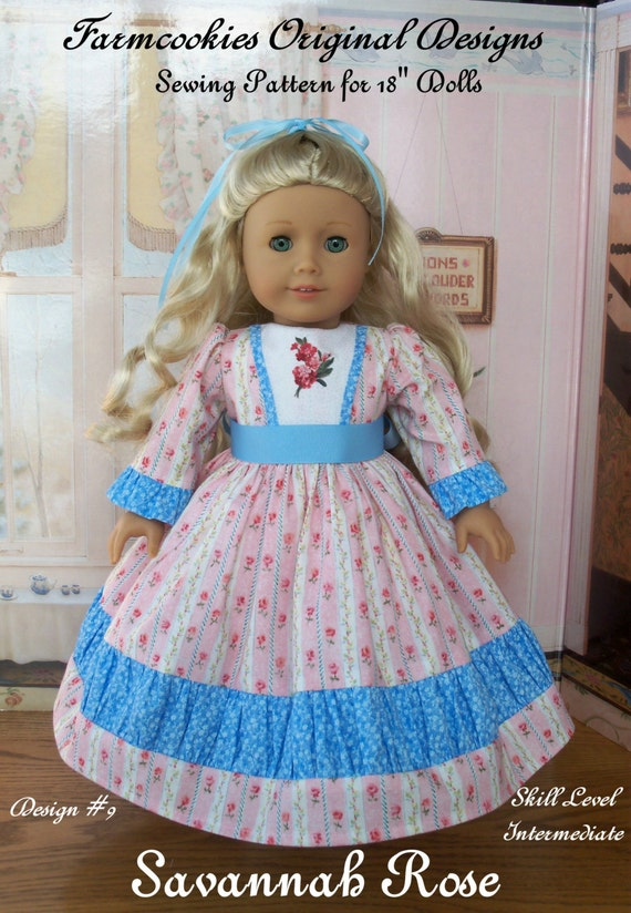PDF Sewing Pattern / Savannah Rose for American Girl Marie Grace or Cecile