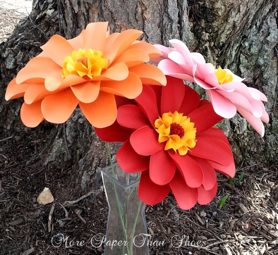 Paper Flowers - Home Decor - Birthday Decor - Party Flowers - X-Large - Daisy - Summer Love - Made to Order - Set of 12