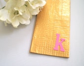 PERSONALIZED Duct Tape Wallet GOLD and PINK