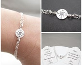 Compass Bracelet   Double Chain Adjustable Compass Bracelet   Not All Who Wander are Lost   Enjoy the Journey   Friendship   Custom Message