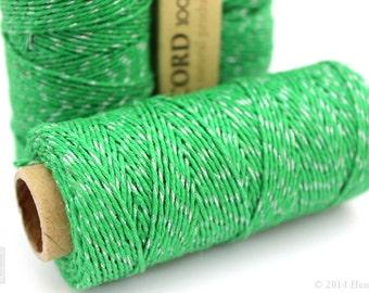 Green Metallic Hemp Cord, 1mm 20lb Polished Hemp Craft Cord