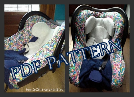 Pdf pattern diy car seat cover patron et tuto pdf housse for Housse chaise haute