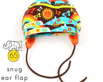 Baby hat pattern with ear flaps // snug beanie pdf // digital download // Preemie to 6T // #65