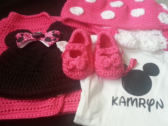 Crochet Pattern For Baby Mermaid Costume : Crochet Minnie Mouse Outfit