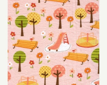 Girly Park - Pink - FLANNEL - 40 inches