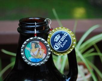 La Adelita Bottle cap Earrings