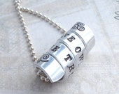 To Thine Own Self Be True Literary Quote Necklace, William Shakespeare Quote Jewelry