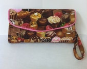Necessary Clutch wallet in Chocolate Candy Print