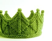 Spring Green Lace Knit Crown Headband