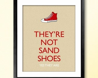 10th Doctor Sand Shoes Converse Poster - 8x10