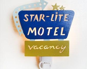 Starlite Motel Nightlight mini retro sign nightlight