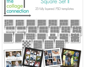 Photoshop Square Collage Templates | Square Set 2